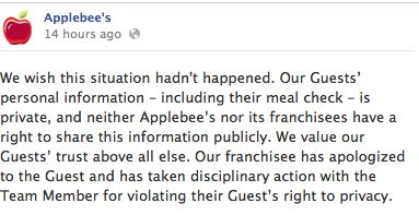 applebee s overnight social media me own a photo essay r l applebee s social media team decided to respond to the growing clamor by saying ldquowe wish this situation didn t happen our franchisee has apologized to the